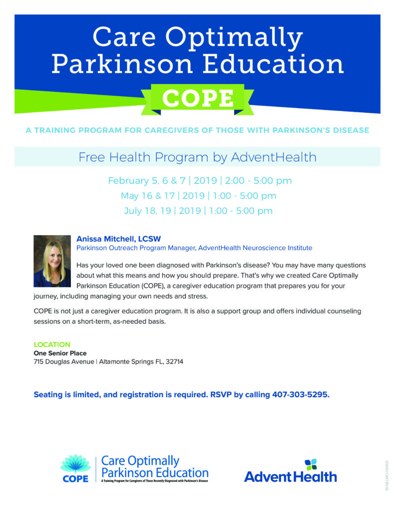Parkinson's Care Class for Caregivers - One Senior Place