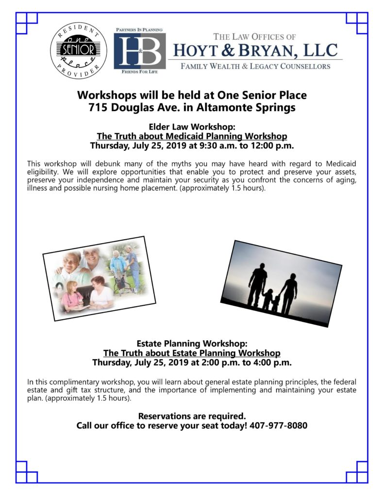 The Truth About Estate Planning @ One Senior Place