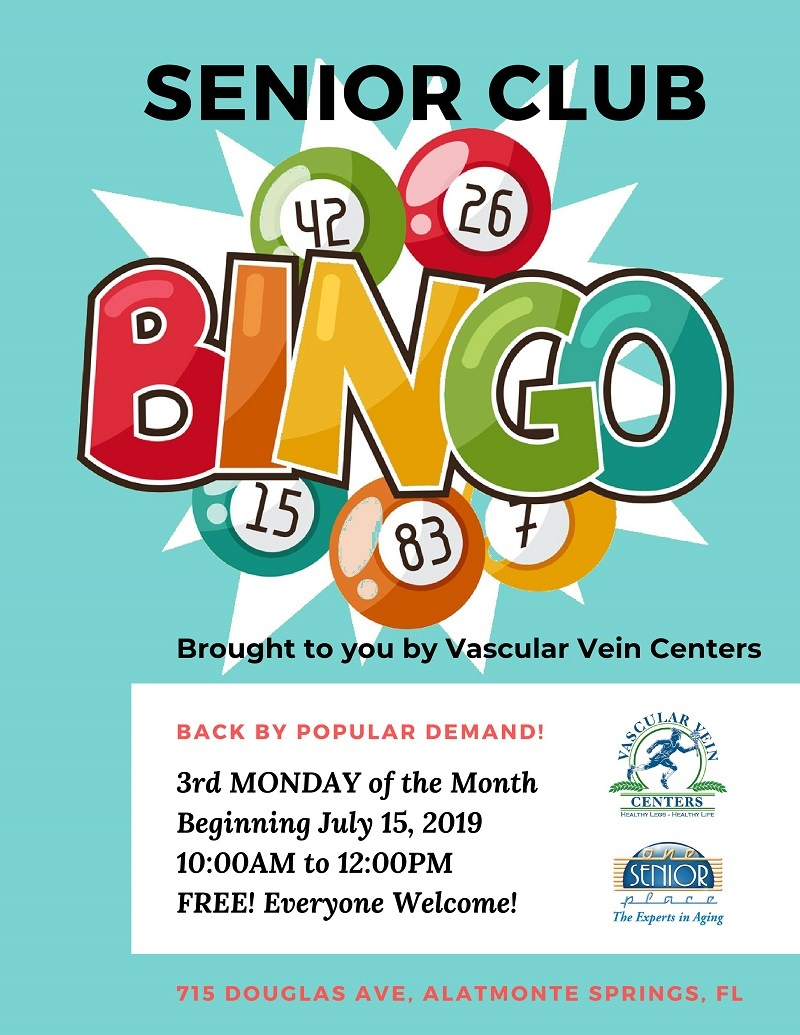 Senior Club BINGO! @ One Senior Place Greater Orlando