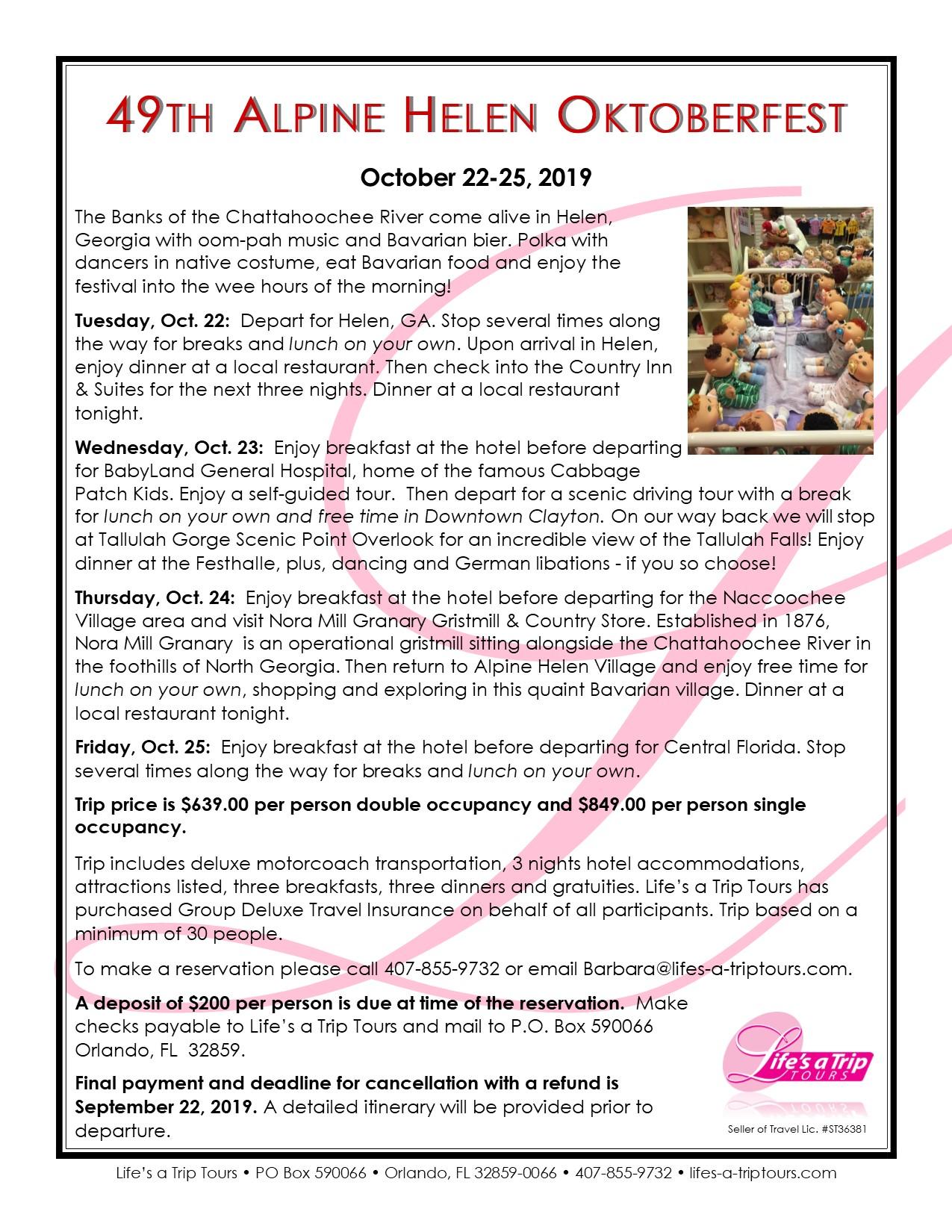 49th Alpine Helen Oktoberfest