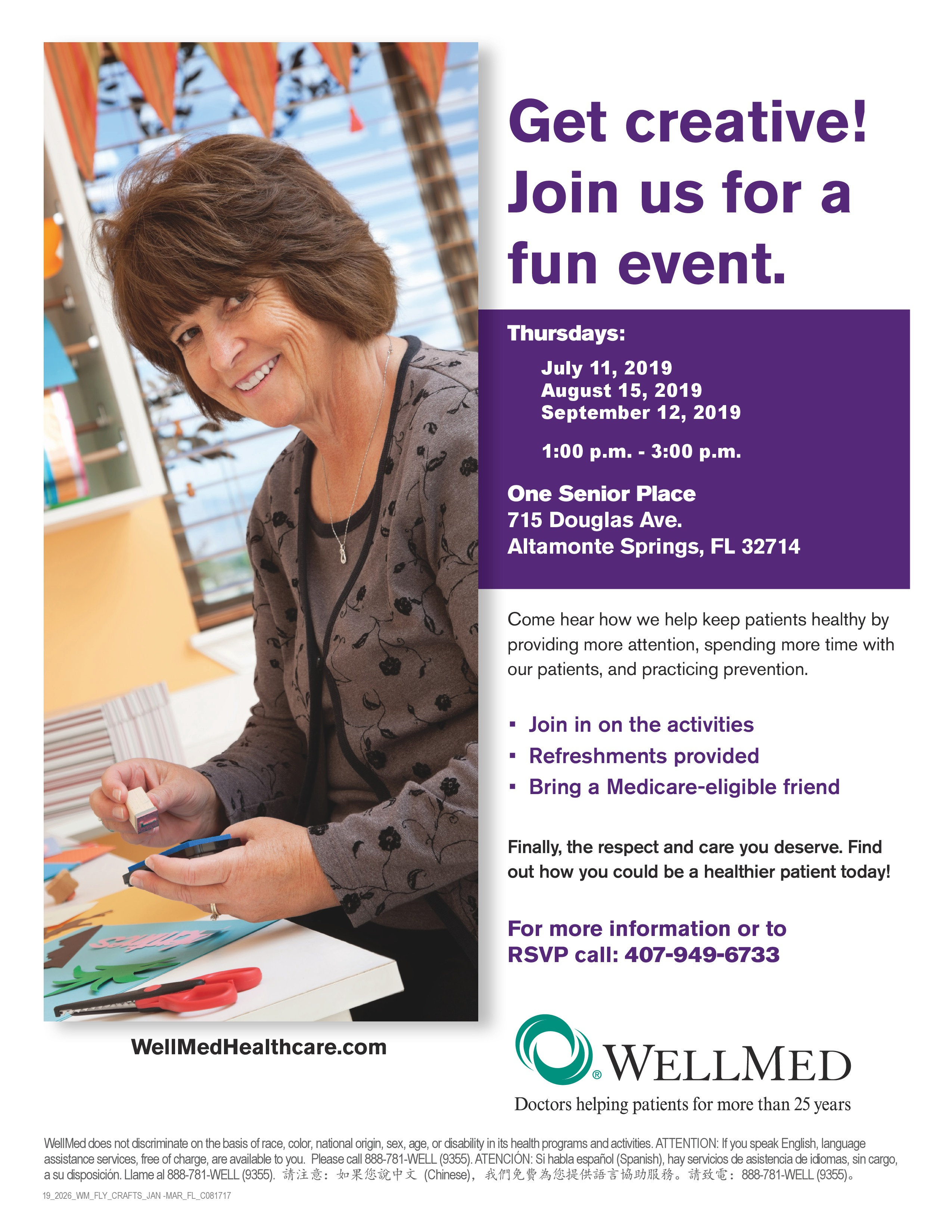 CANCELLED - Arts & Crafts with WellMed