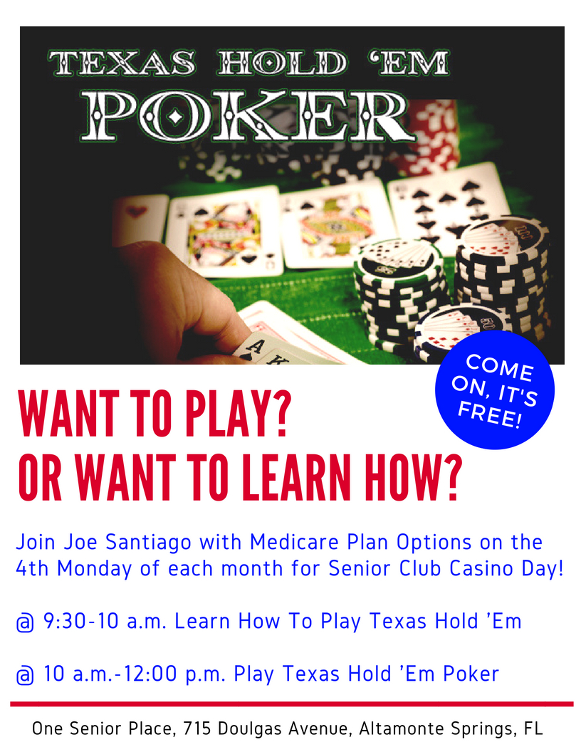 CANCELED THIS WEEK: Learn Texas Hold 'Em