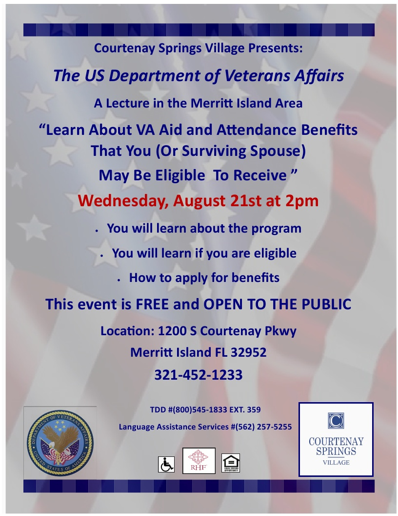 Learn About VA Aid and Attendance Benefits That You (Or Surviving Spouse) May Be Eligible To Receive