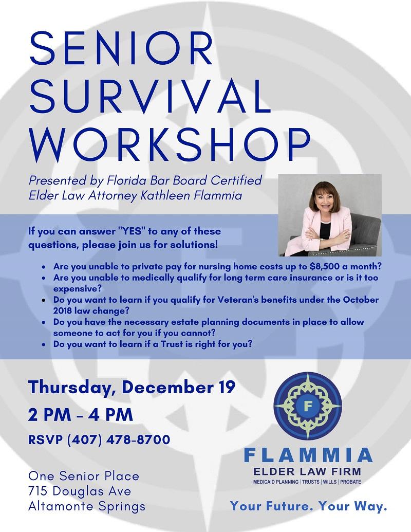 Senior Survival Workshop