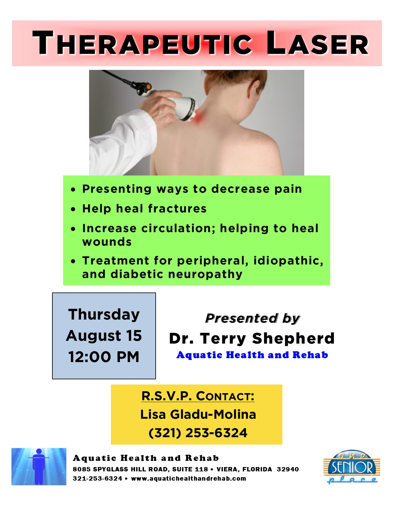 Therapeutic Laser presented by Aquatic Health and Rehab