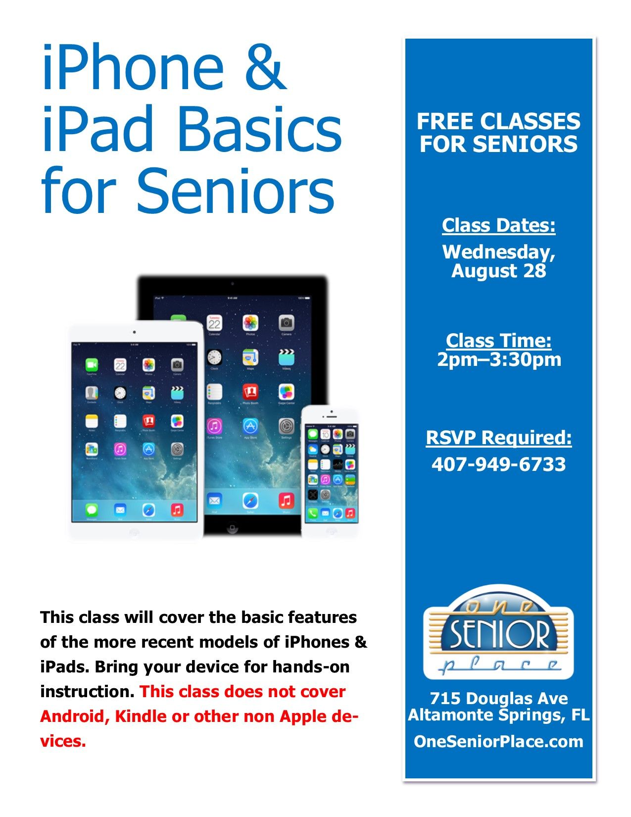 iPhone & iPad Class for Seniors