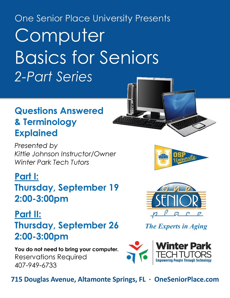 Computer Basics for Seniors-Part 1