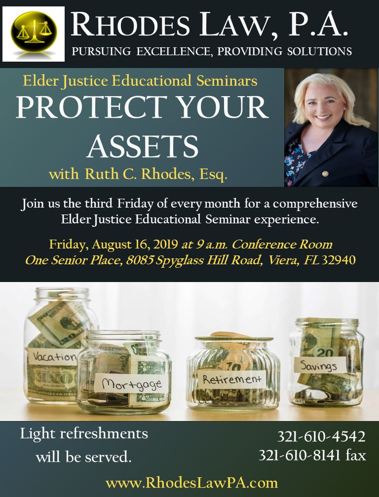 Protect Your Assets with Ruth C. Rhodes, Esq.