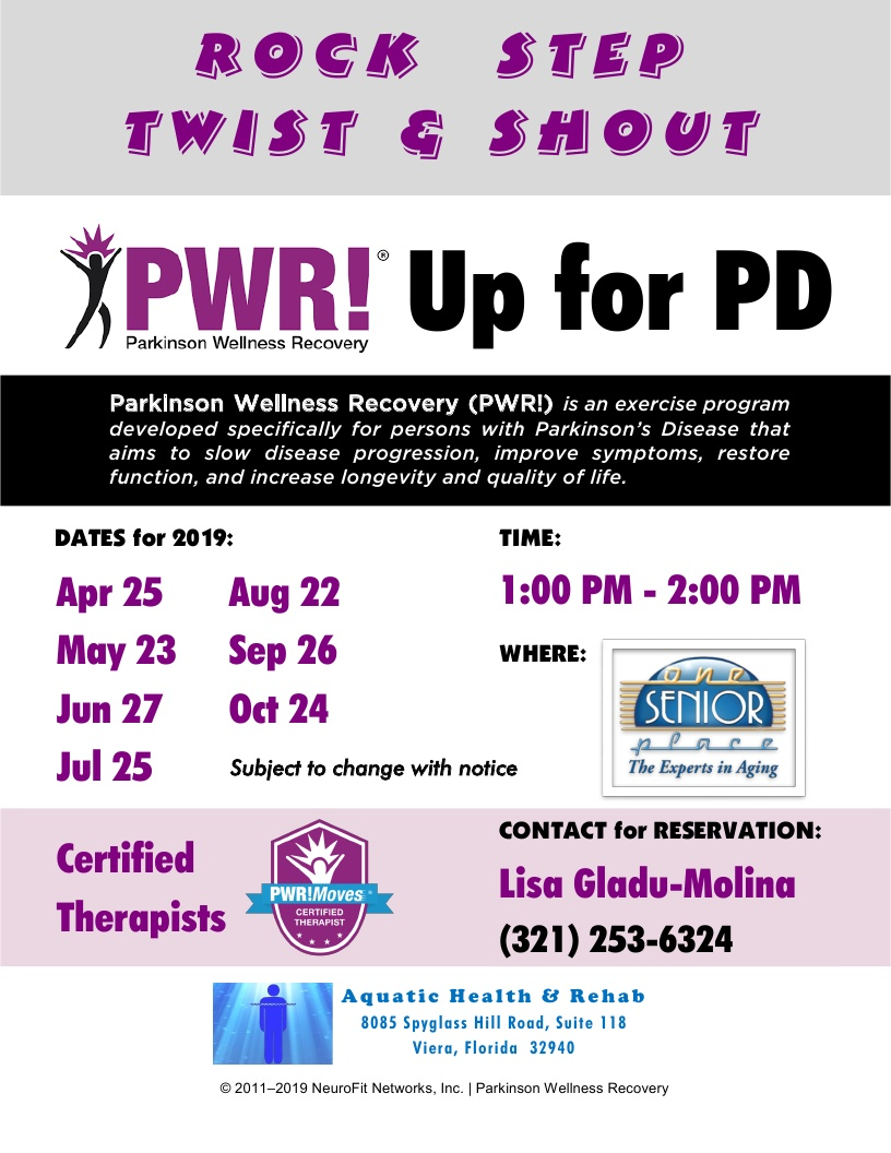 Rock, Step, Twist & Shout - PWR! Up for PD, Aquatic Health & Rehab