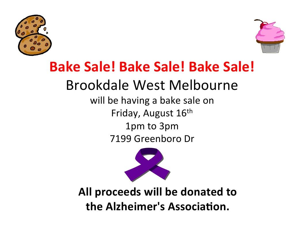 Bake Sale! at Brookdale West Melbourne