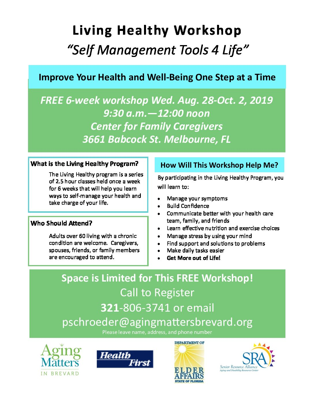 "Living Healthy Workshop ""Self Management Tools 4 Life"""