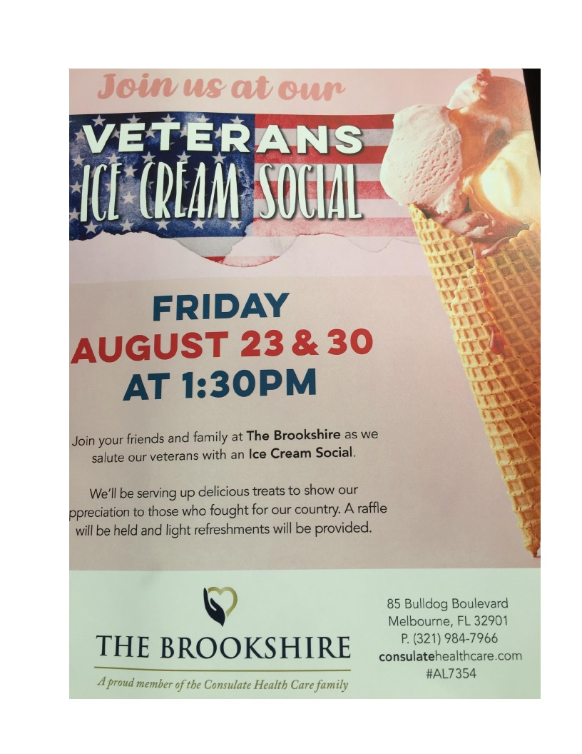 Veterans Ice Cream Social at The Brookshire
