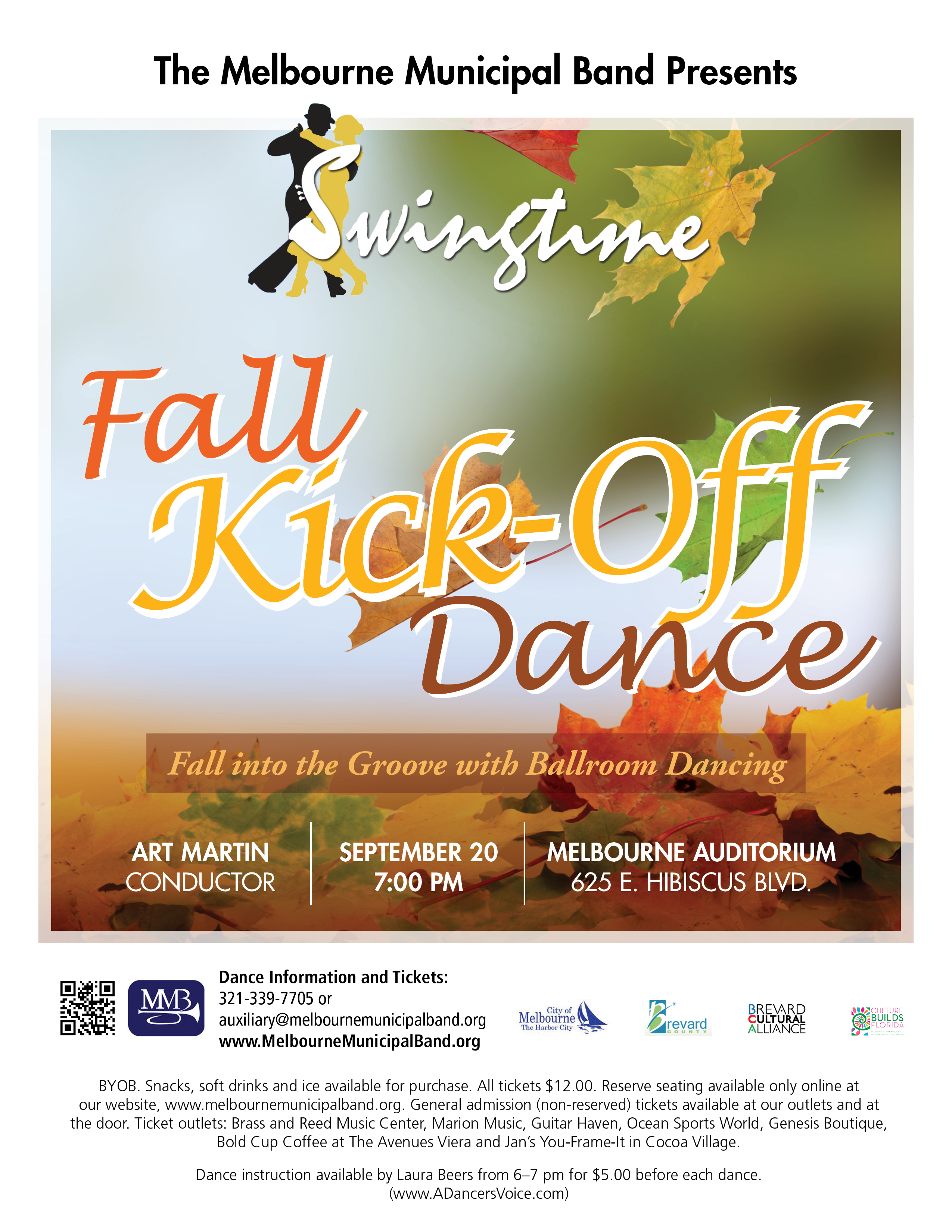 Fall Kick-Off Dance presented by The Melbourne Municipal Band