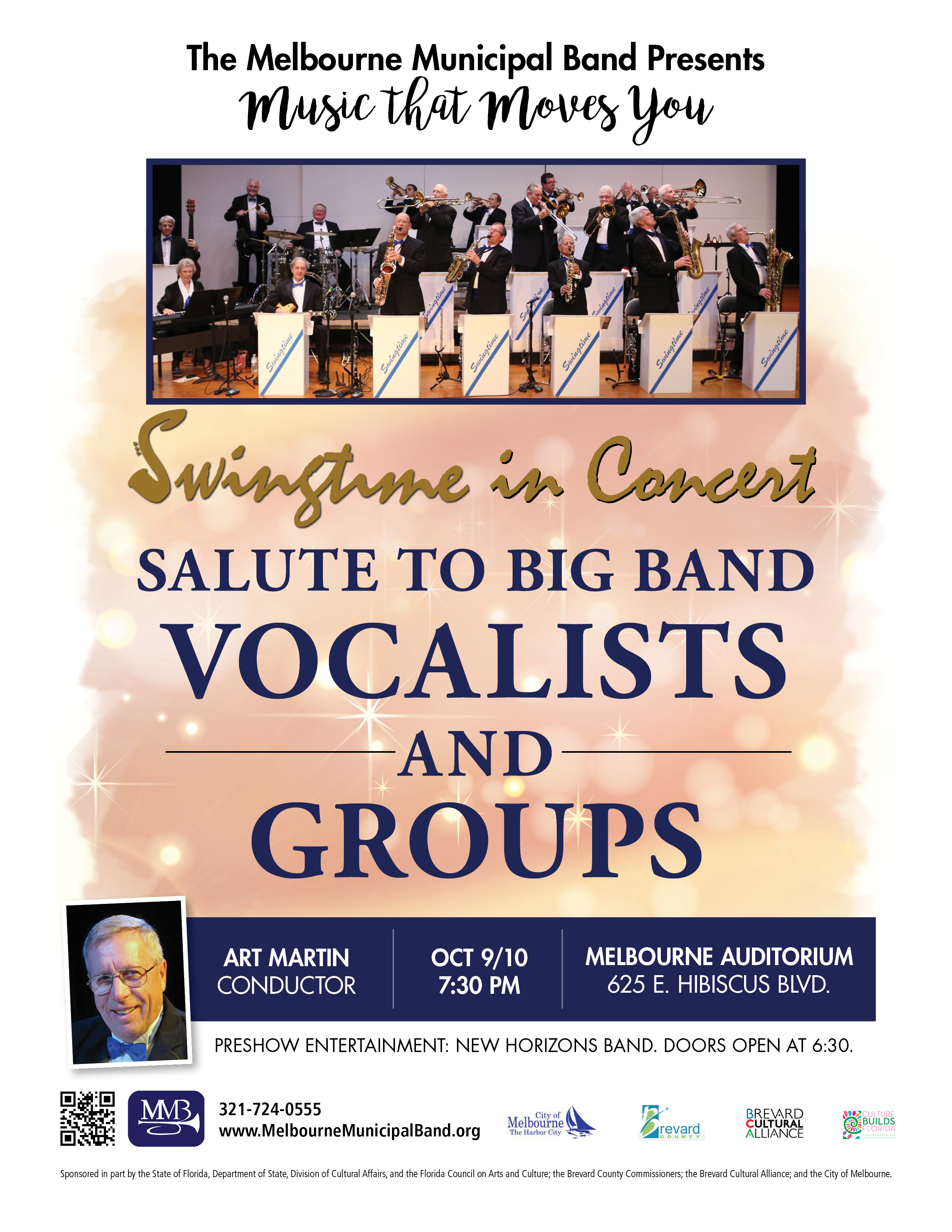 Salute to Big Band Vocalists and Groups presented by The Melbourne Municipal Band