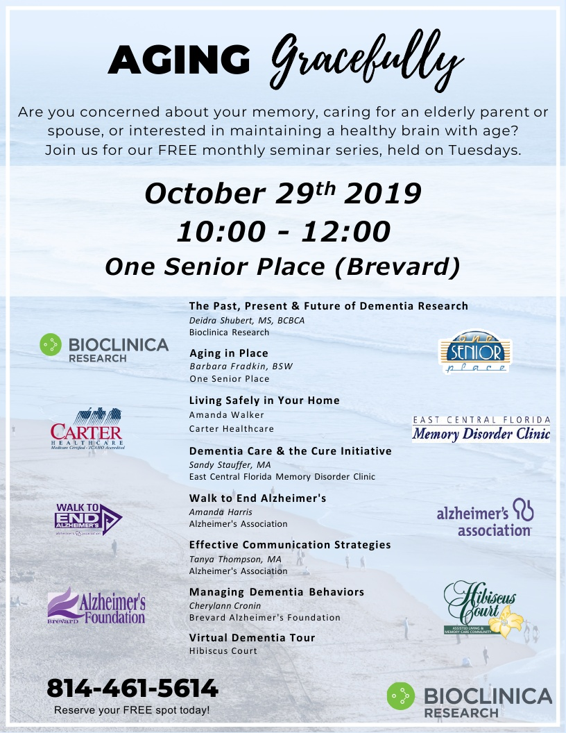 Aging Gracefully hosted by Bioclinica Research