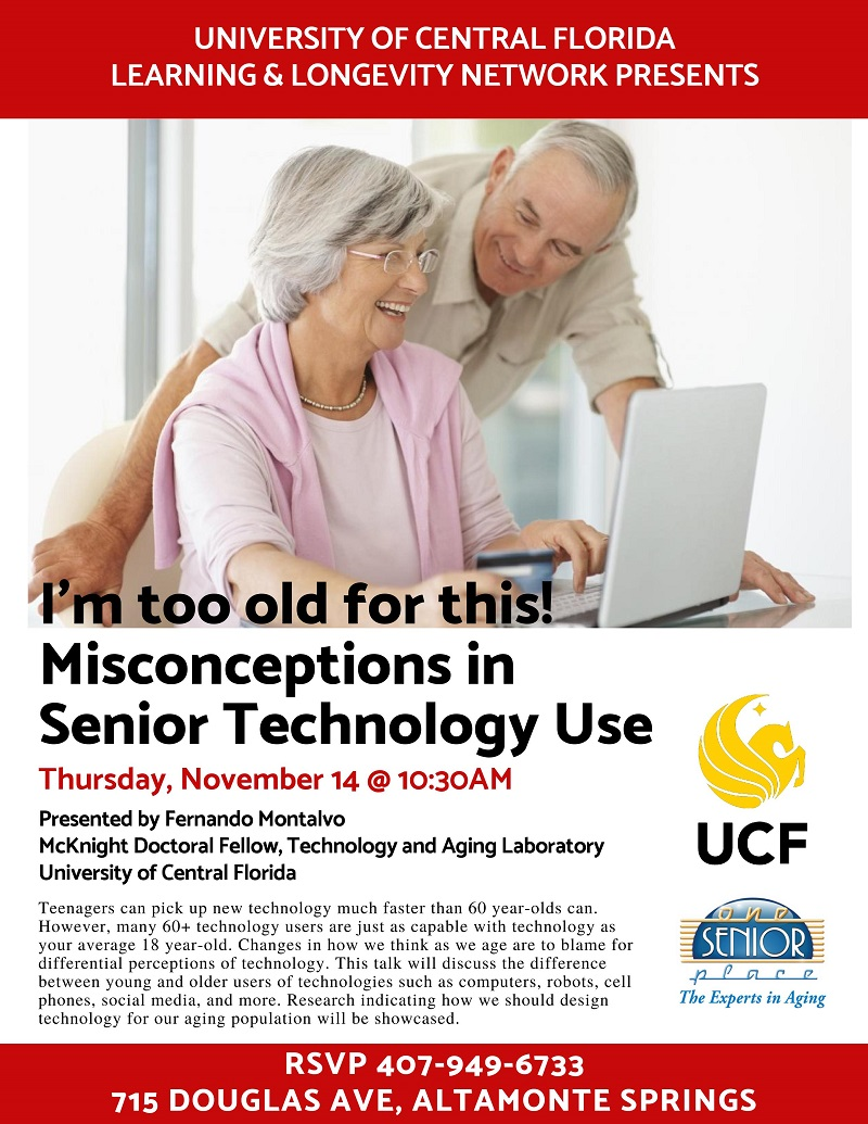 I'm too old for this! Misconceptions in Senior Technology Use