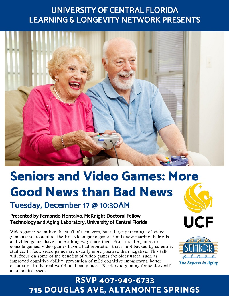 Seniors and Video Games: More Good News than Bad News