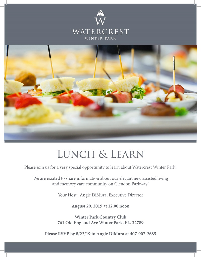 Watercrest Winter Park Lunch & Learn