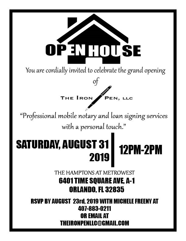 The Iron Pen Open House