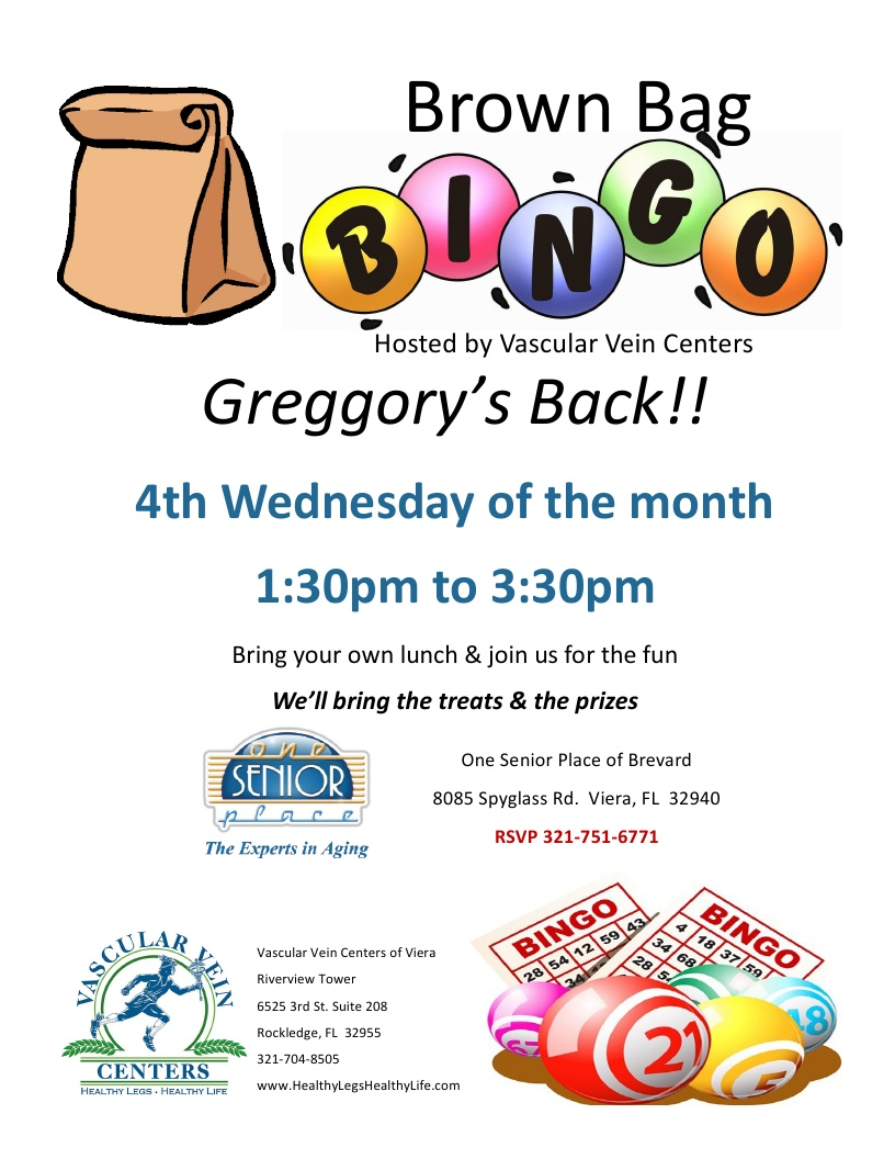 Brown Bag BINGO hosted by Vascular Vein Centers
