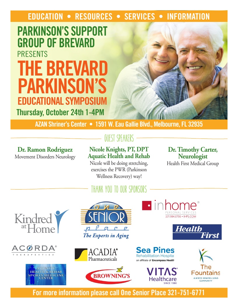 The Brevard Parkinson's Educational Symposium presented by Parkinson's Support Group of Brevard
