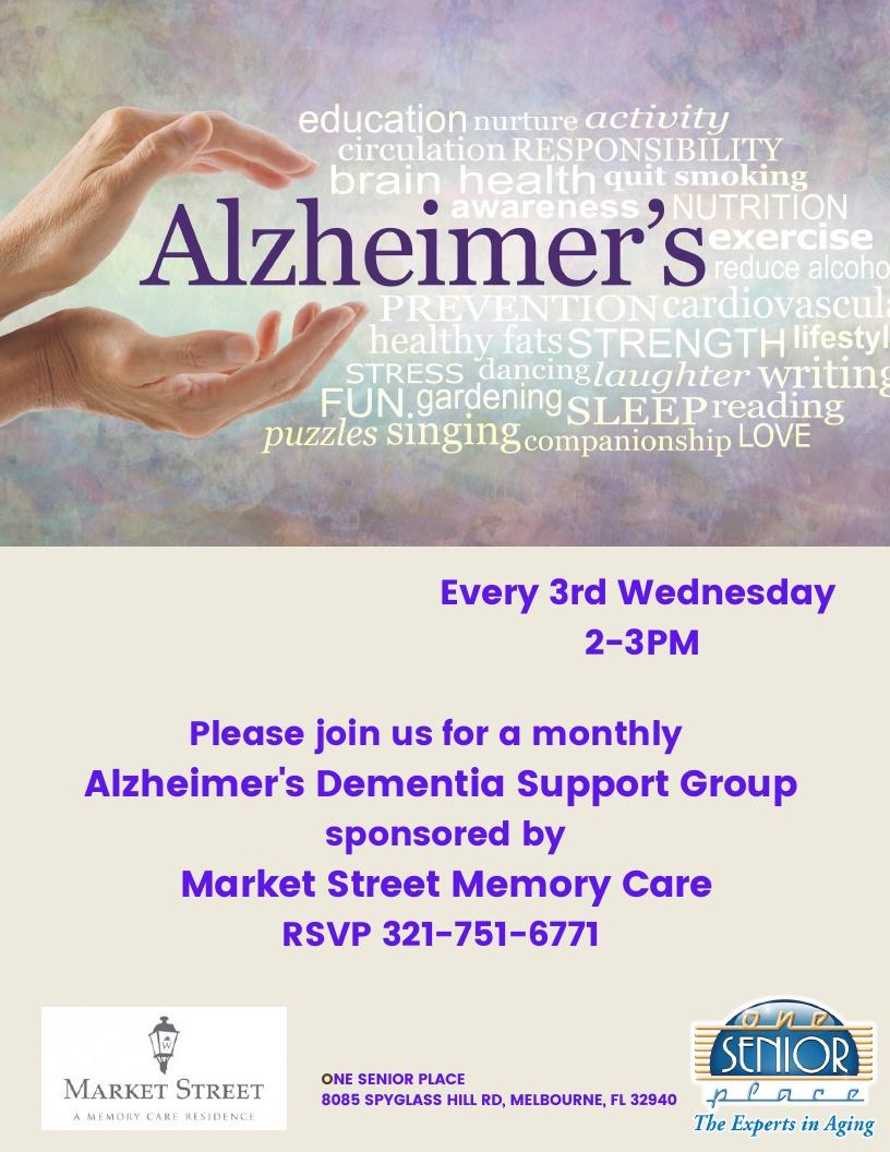 Alzheimer's / Dementia Support Group, Market Street Residence