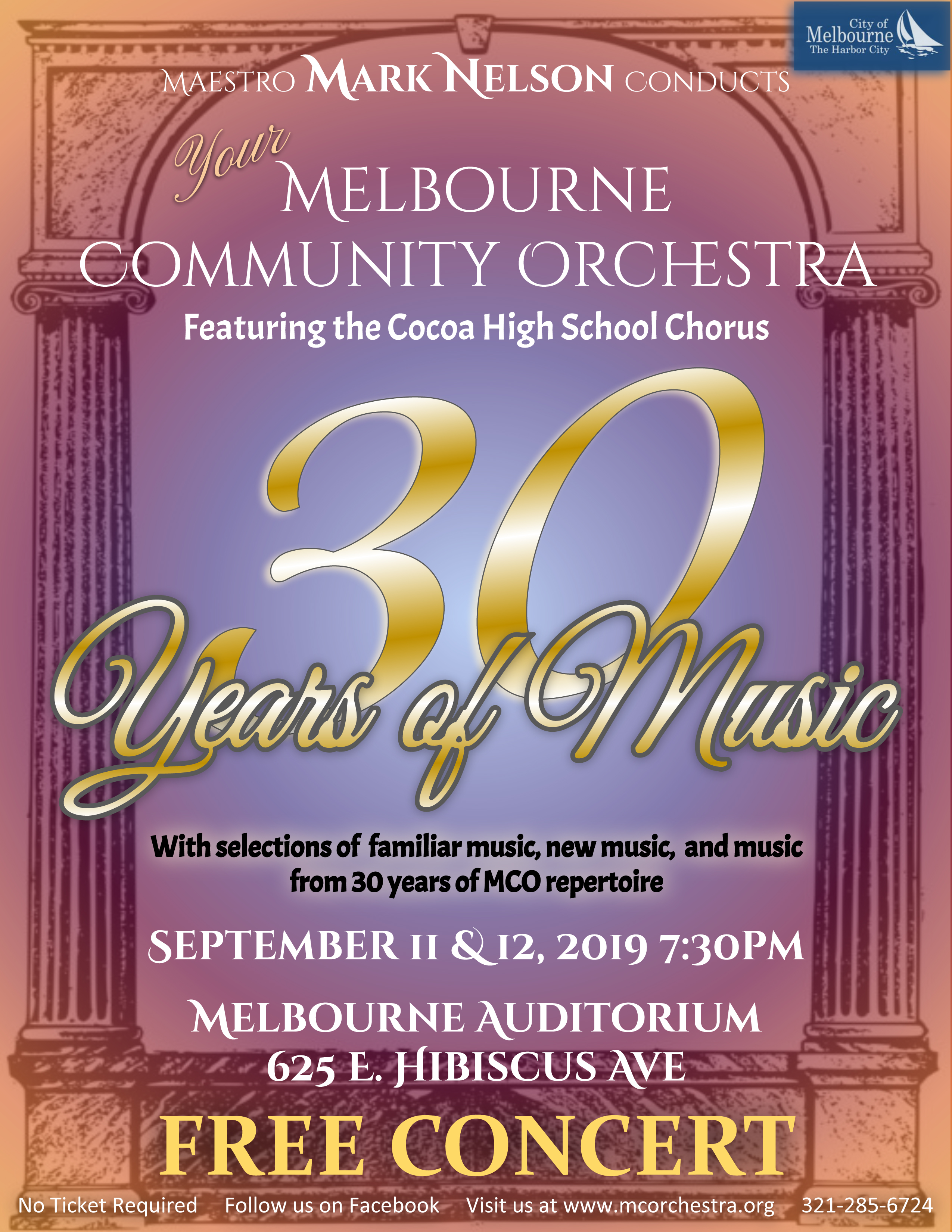 30 Years of Music by the Melbourne Community Orchestra
