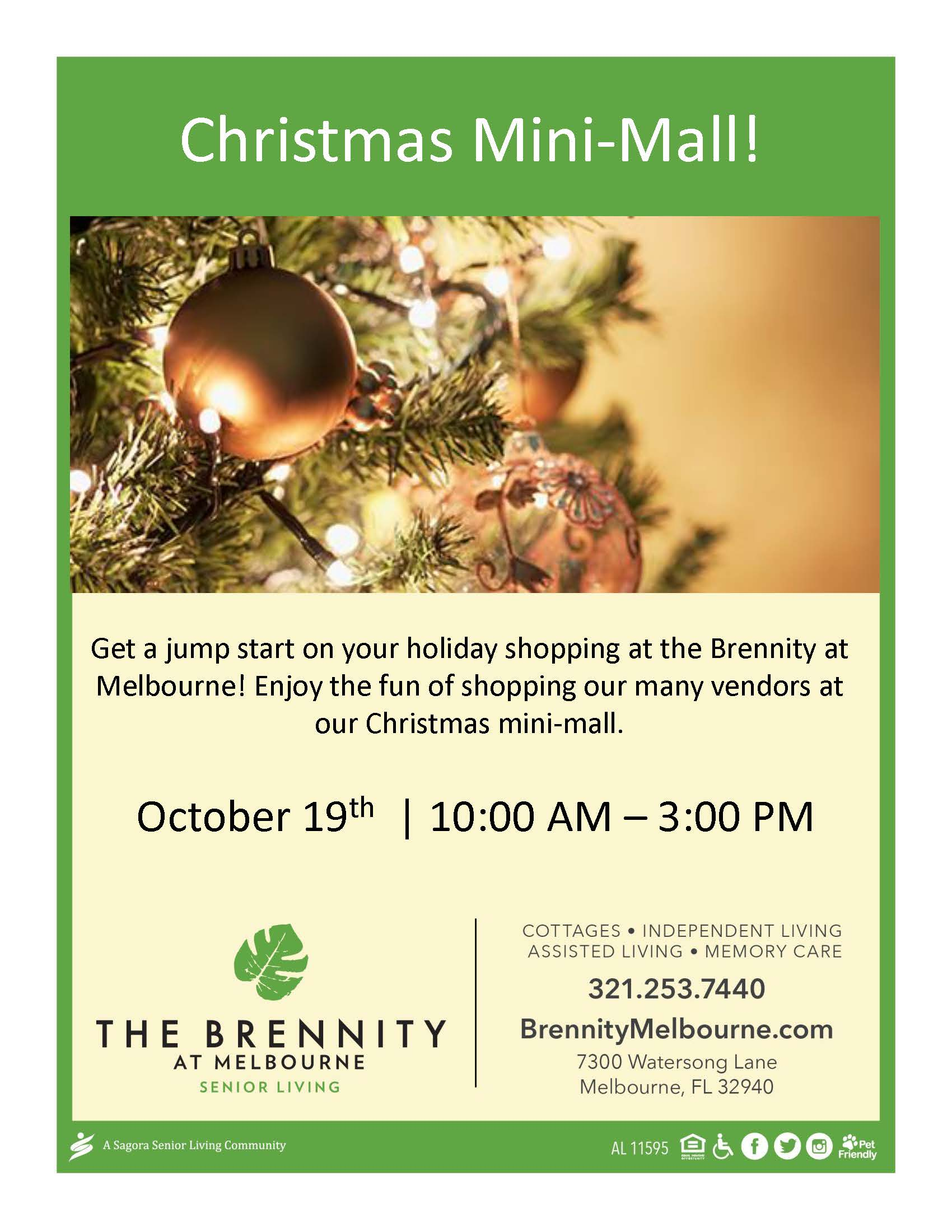 Christmas Mini-Mall at The Brennity at Melbourne