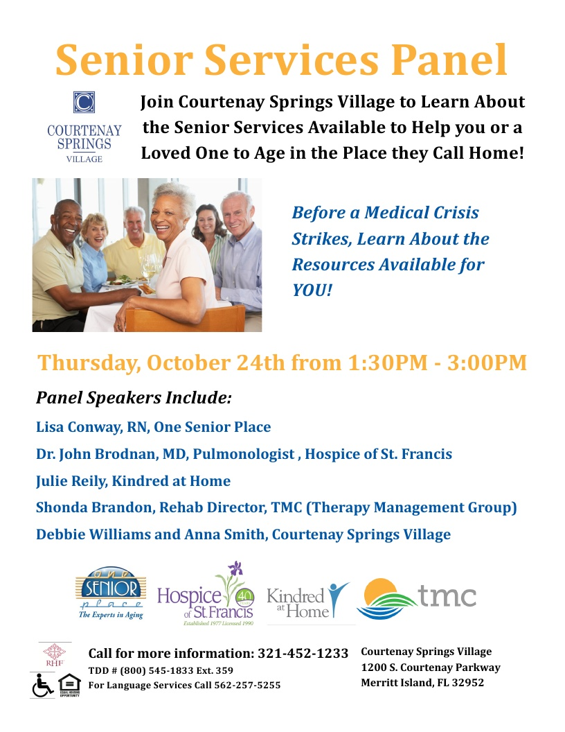 Learn About the Senior Services Available to Help You at Courtenay Springs Village