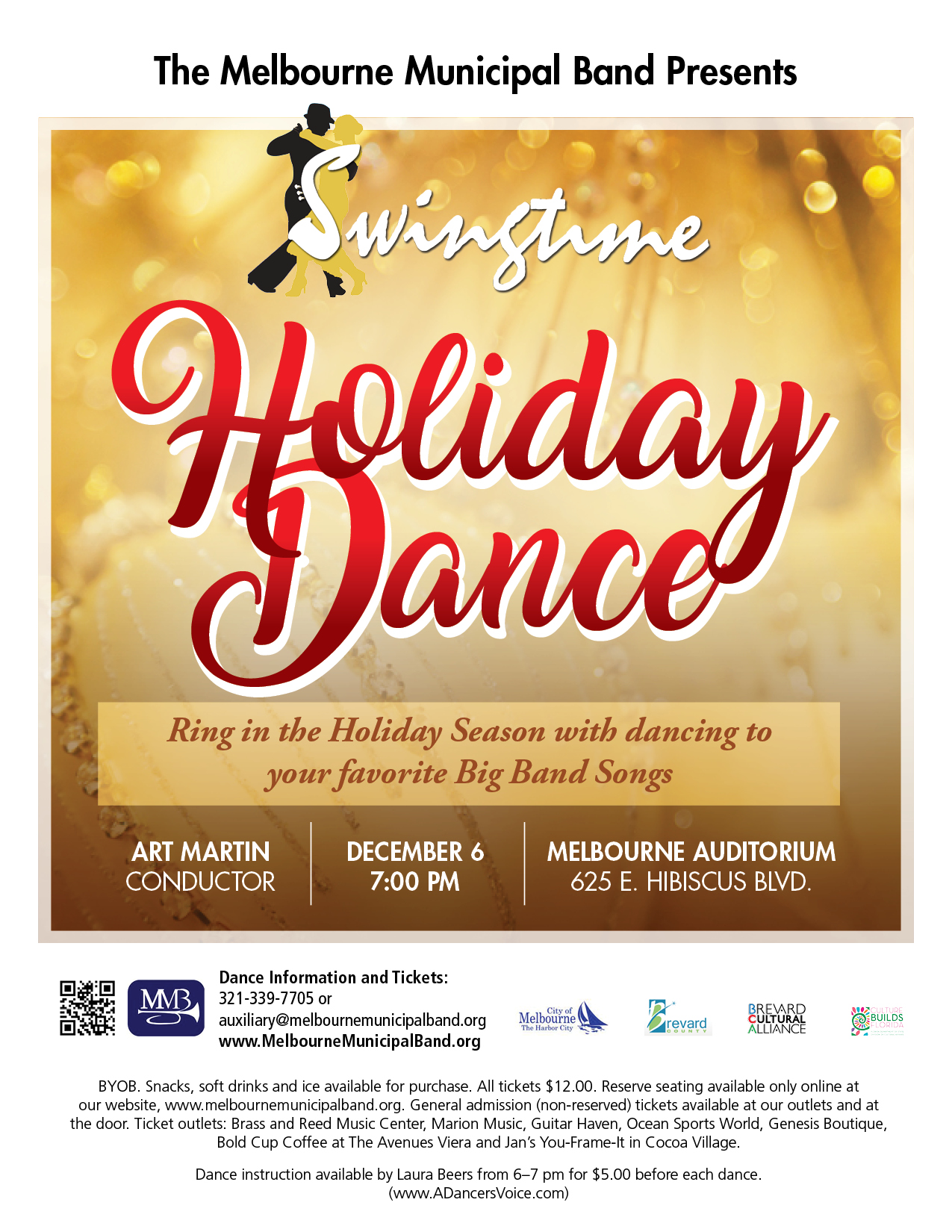 Swingtime Holiday Dance presented by The Melbourne Municipal Band