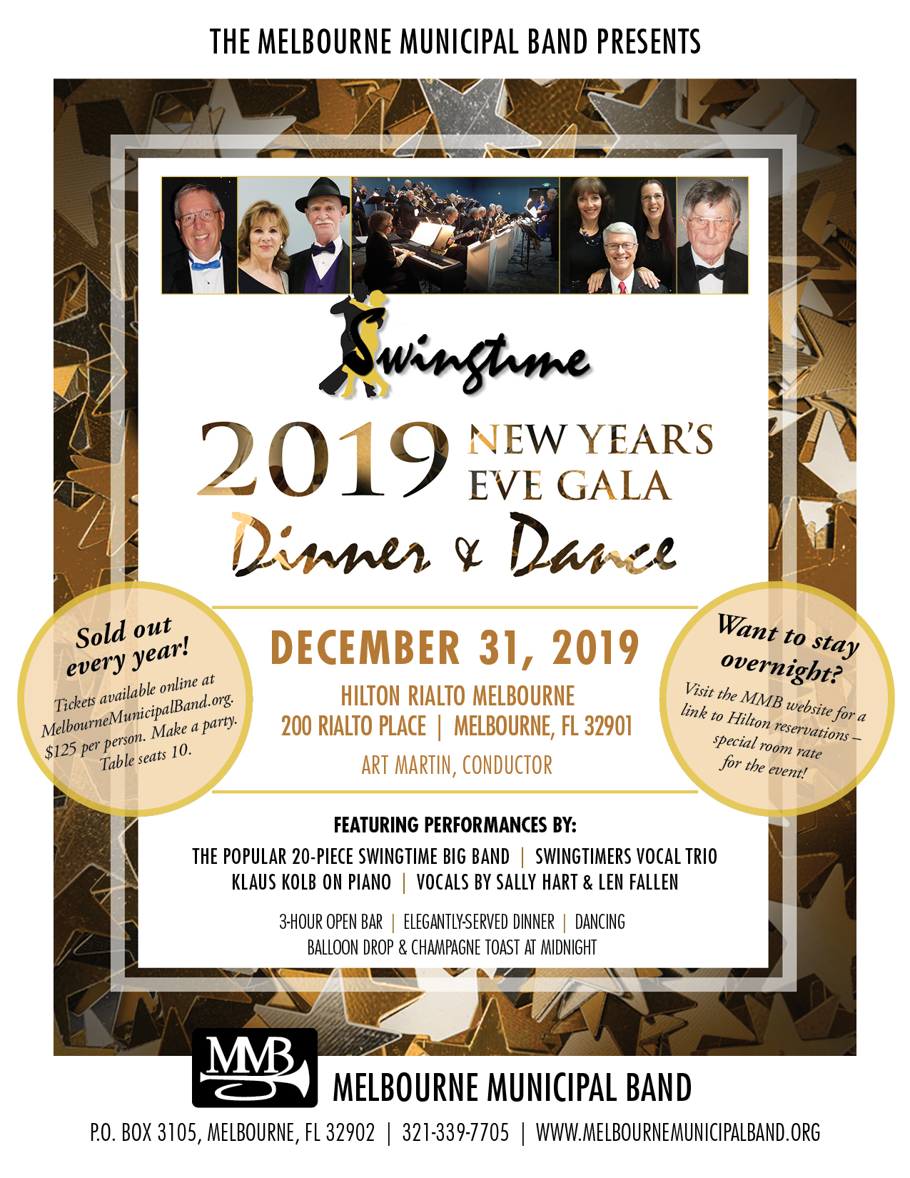 2019 New Year's Eve Gala presented by The Melbourne Municipal Band
