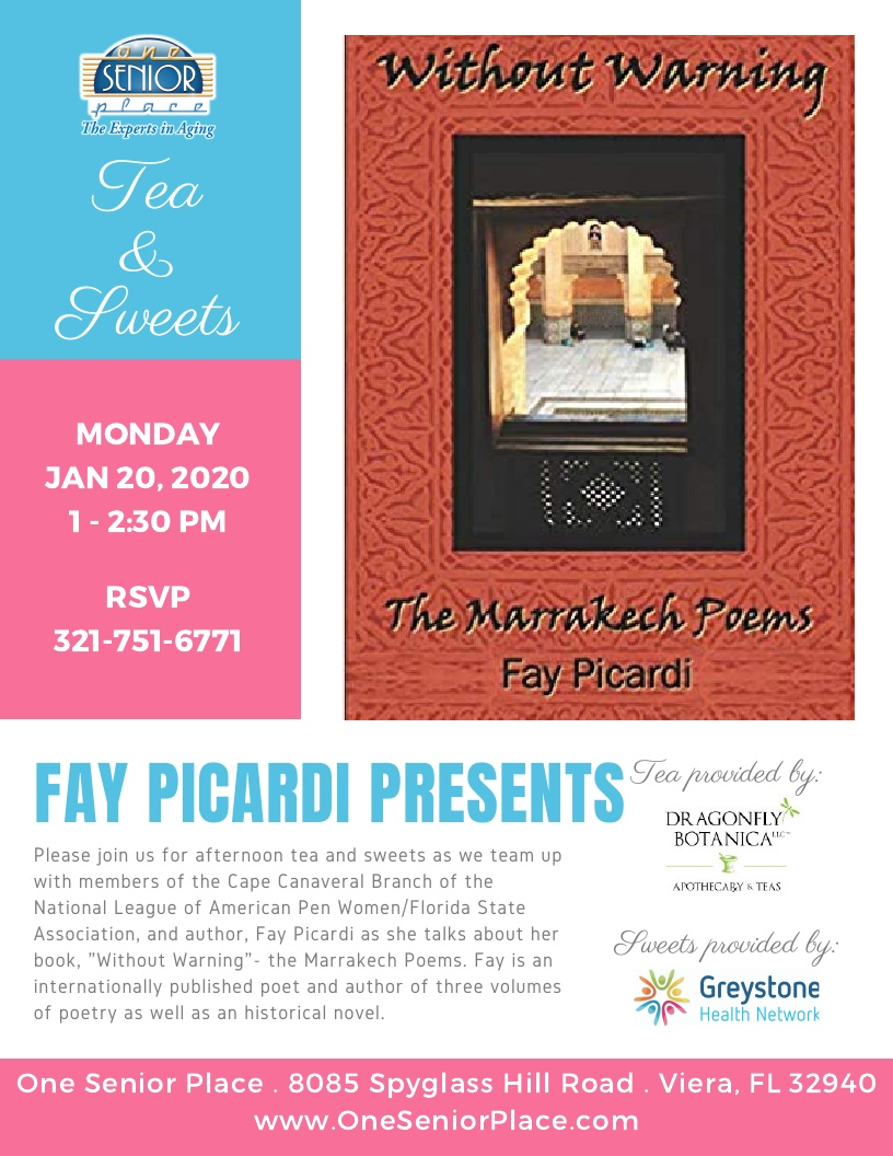 "Tea and Sweets - Fay Picardi presents ""Without Warning"""