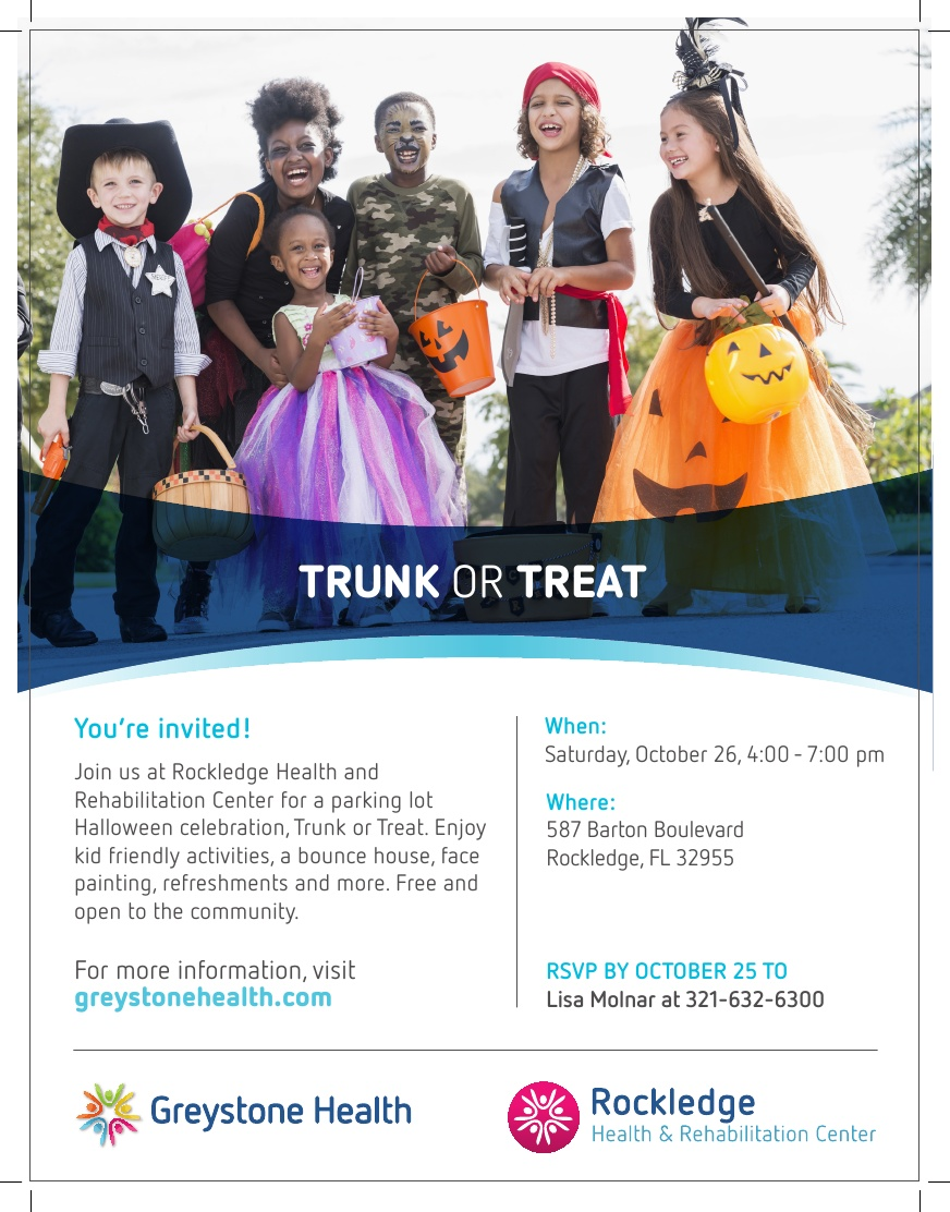 Trunk or Treat at Rockledge Health and Rehabilitation Center