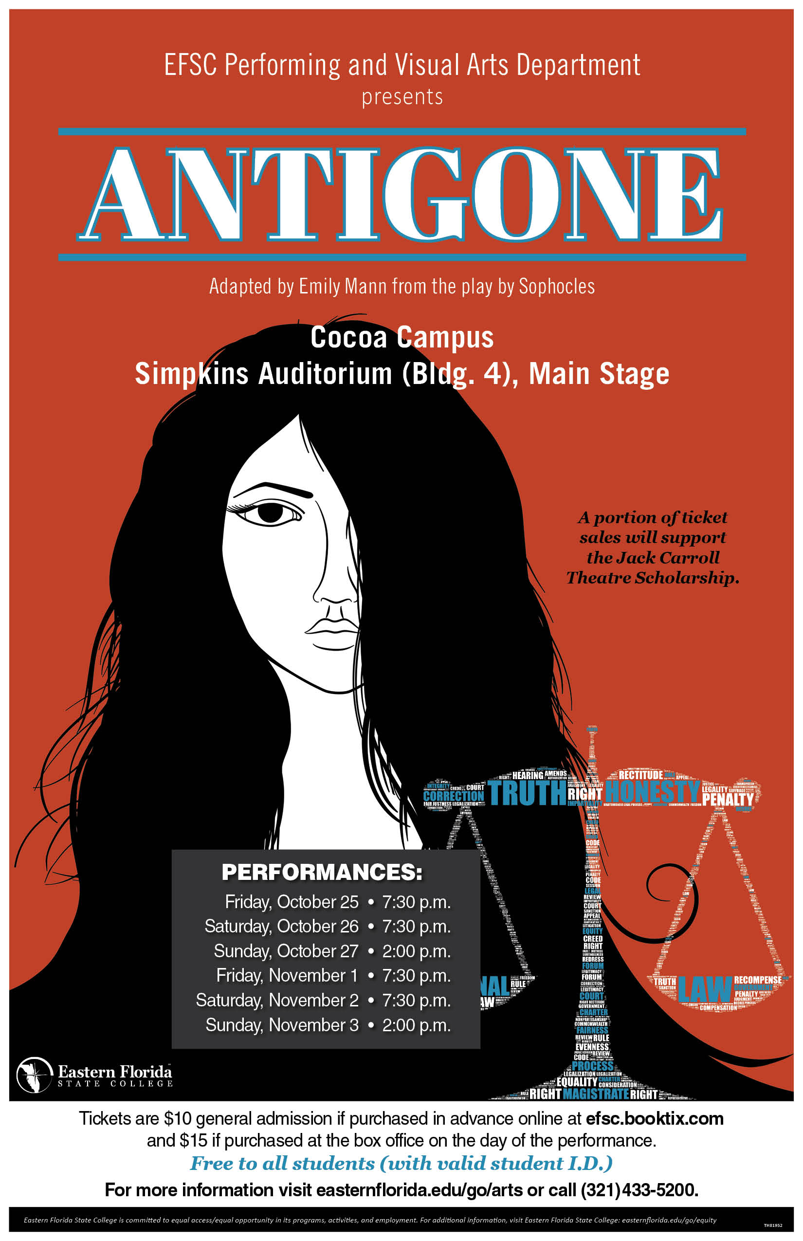 Antigone presented by EFSC Performing and Visual Arts Department