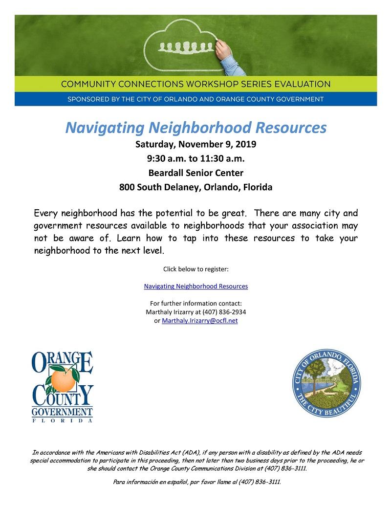 Navigating Neighborhood Resources