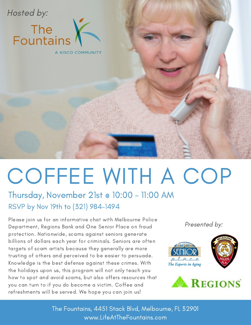Coffee with a Cop hosted by The Fountains