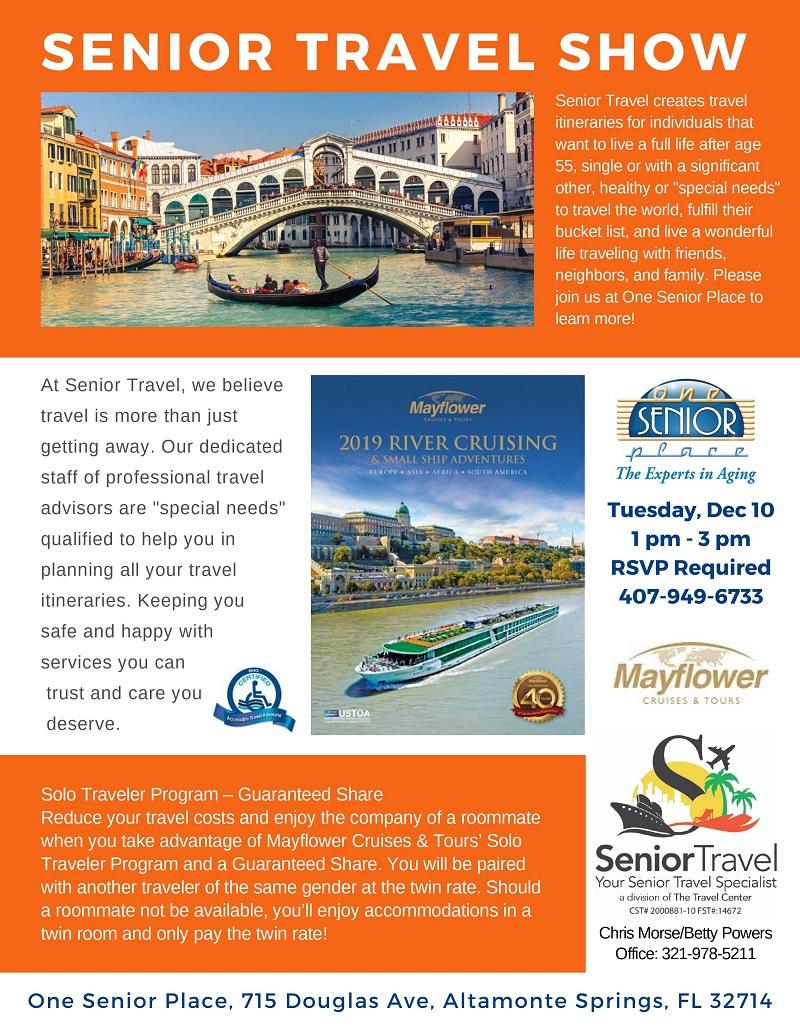 Senior Travel Show: Mayflower River Cruising