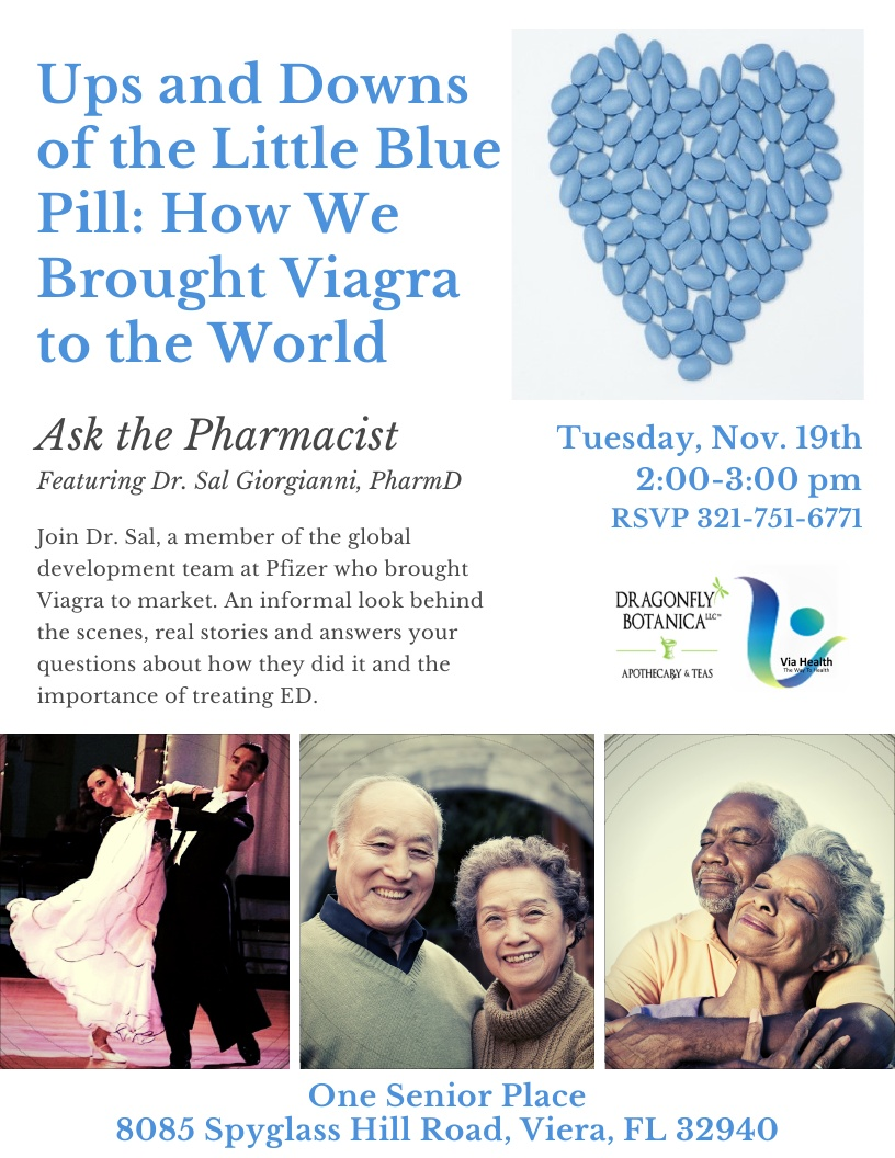Ups and Downs of the Little Blue Pill: How We Brought Viagra to the World, Ask the Pharmacist featuring Dr. Sal Giorgianni, PharmD