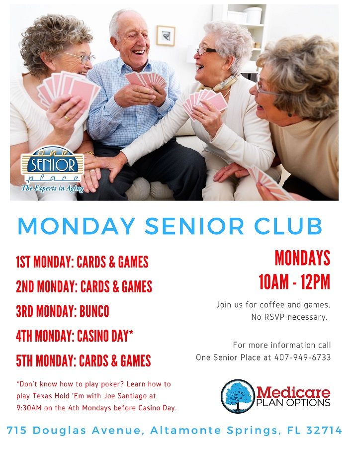 CANCELED: Senior Club Casino Day