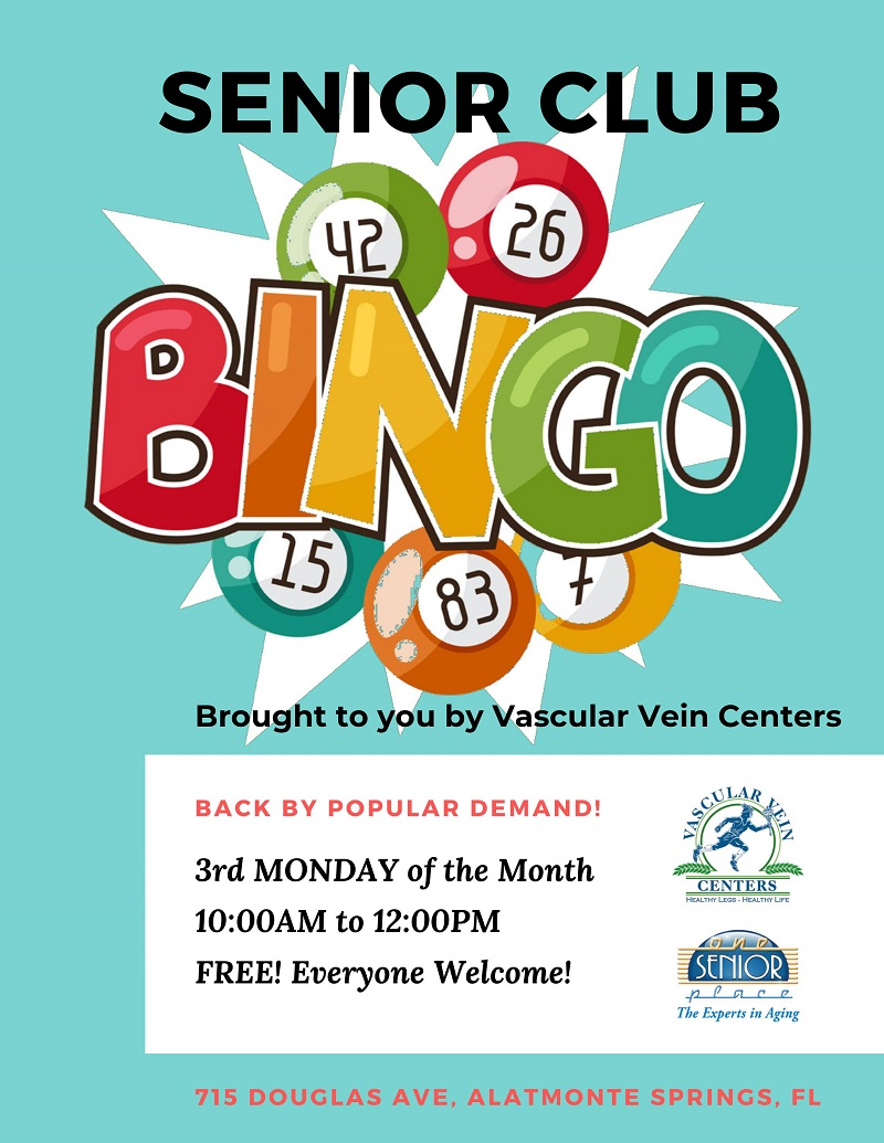Senior Club BINGO!