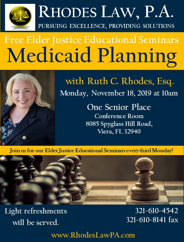 Medicaid Planning Seminar with Ruth C. Rhodes, Esq.