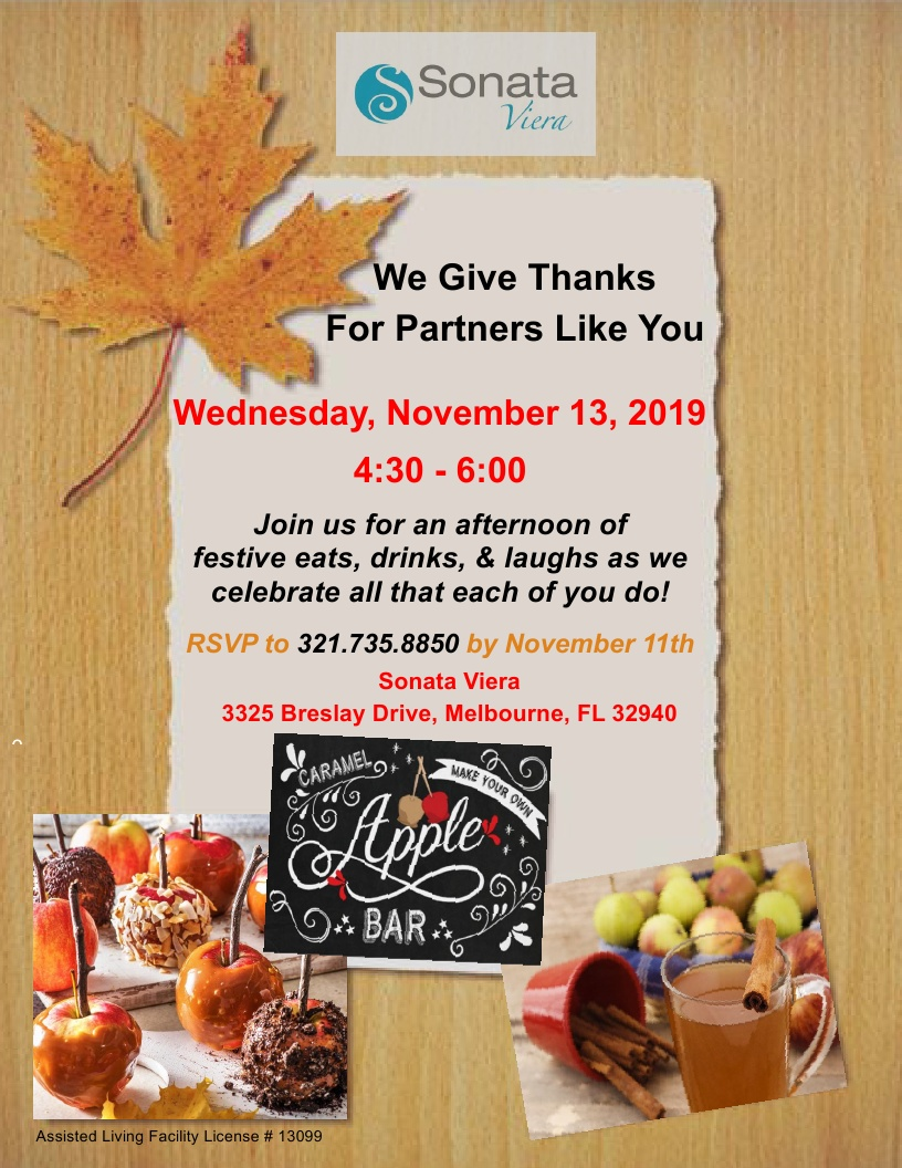 We Give Thanks For Partners Like You