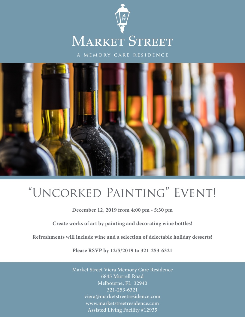 'Uncorked Painting' Event! at Market Street Viera Memory Care Residence