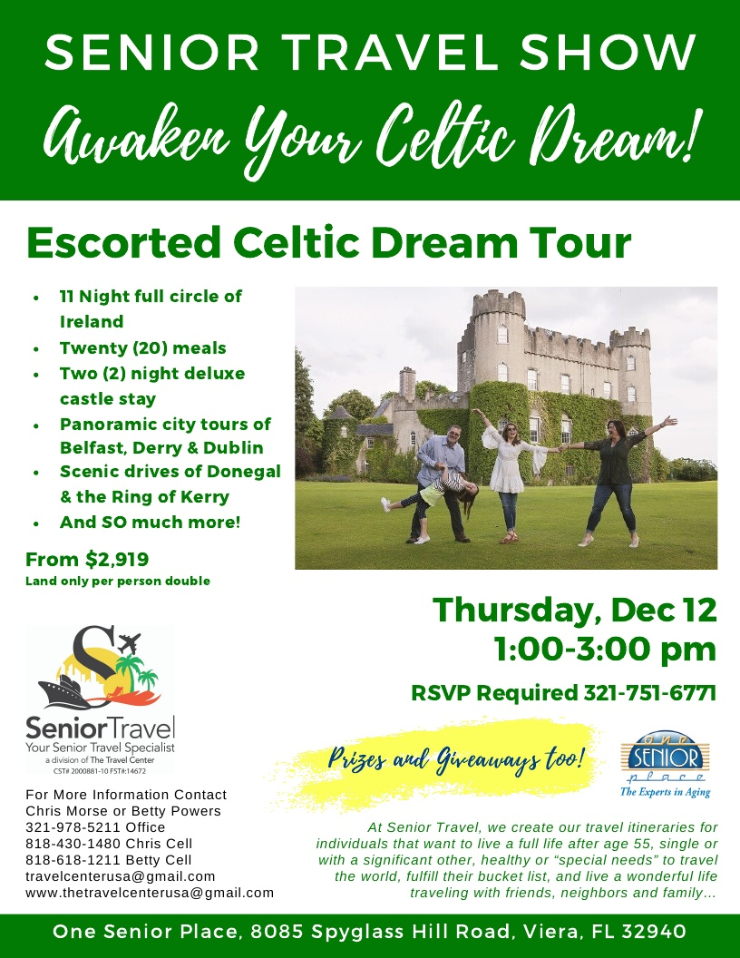 CANCELLED - Awaken Your Celtic Dream! The Senior Travel Show