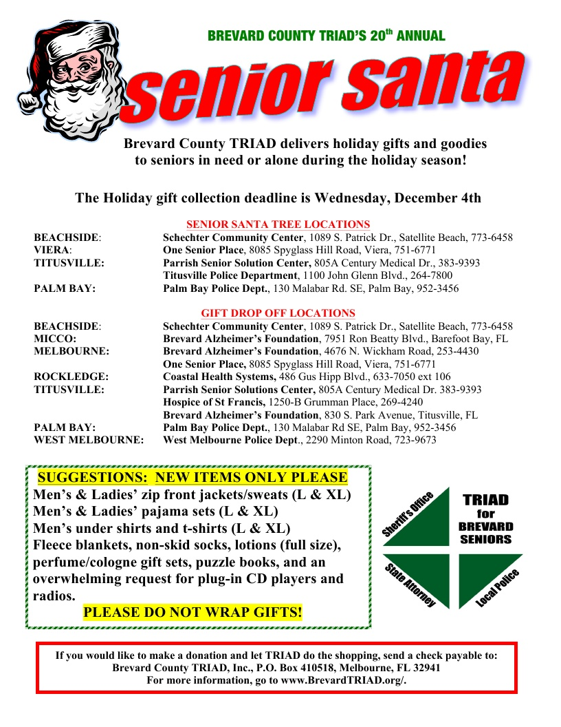 Brevard County TRIAD's 20th Annual Senior Santa