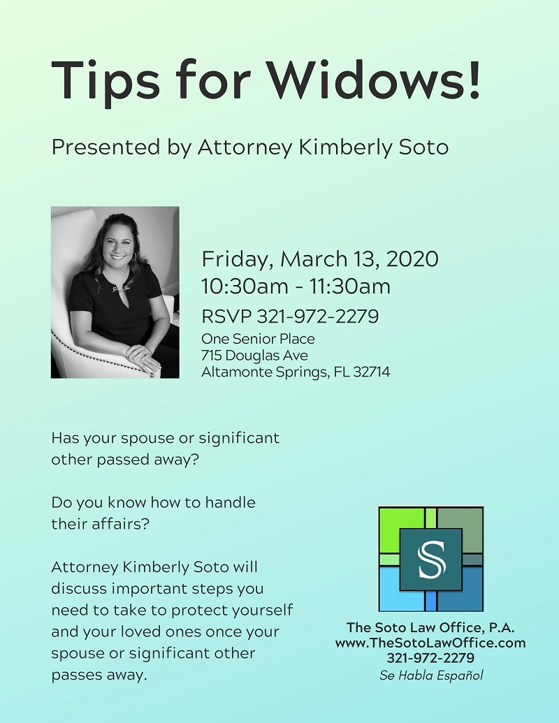 Tips for Widows!