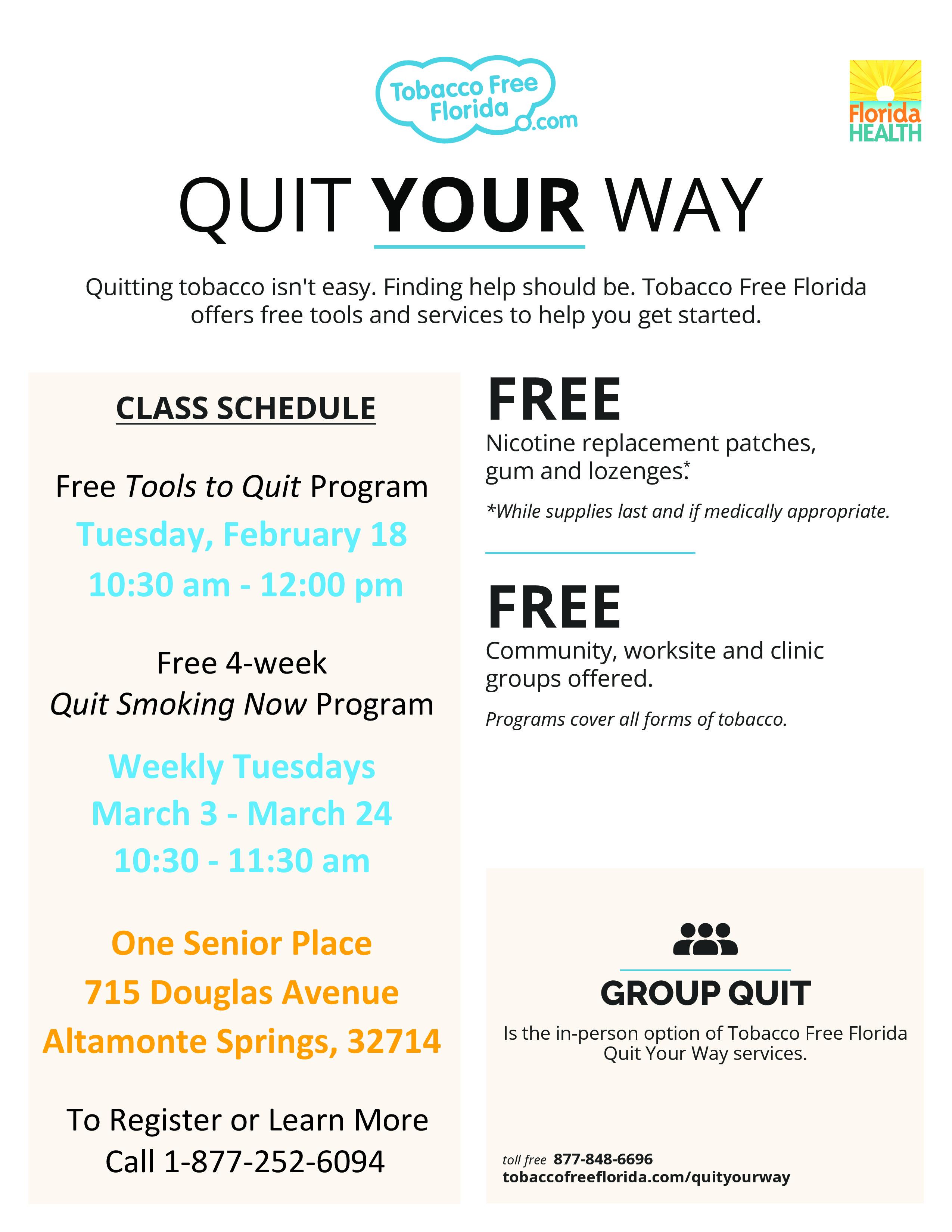 FREE Tools To Quit Program