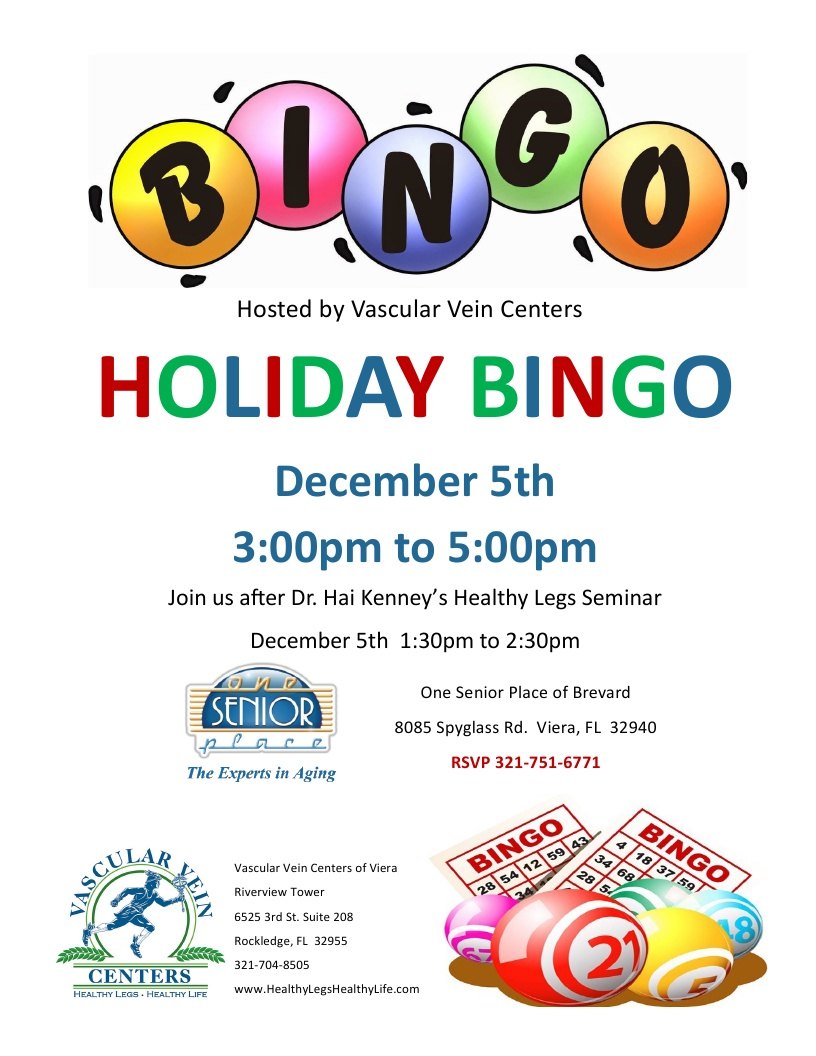 Holiday BINGO hosted by Vascular Vein Centers
