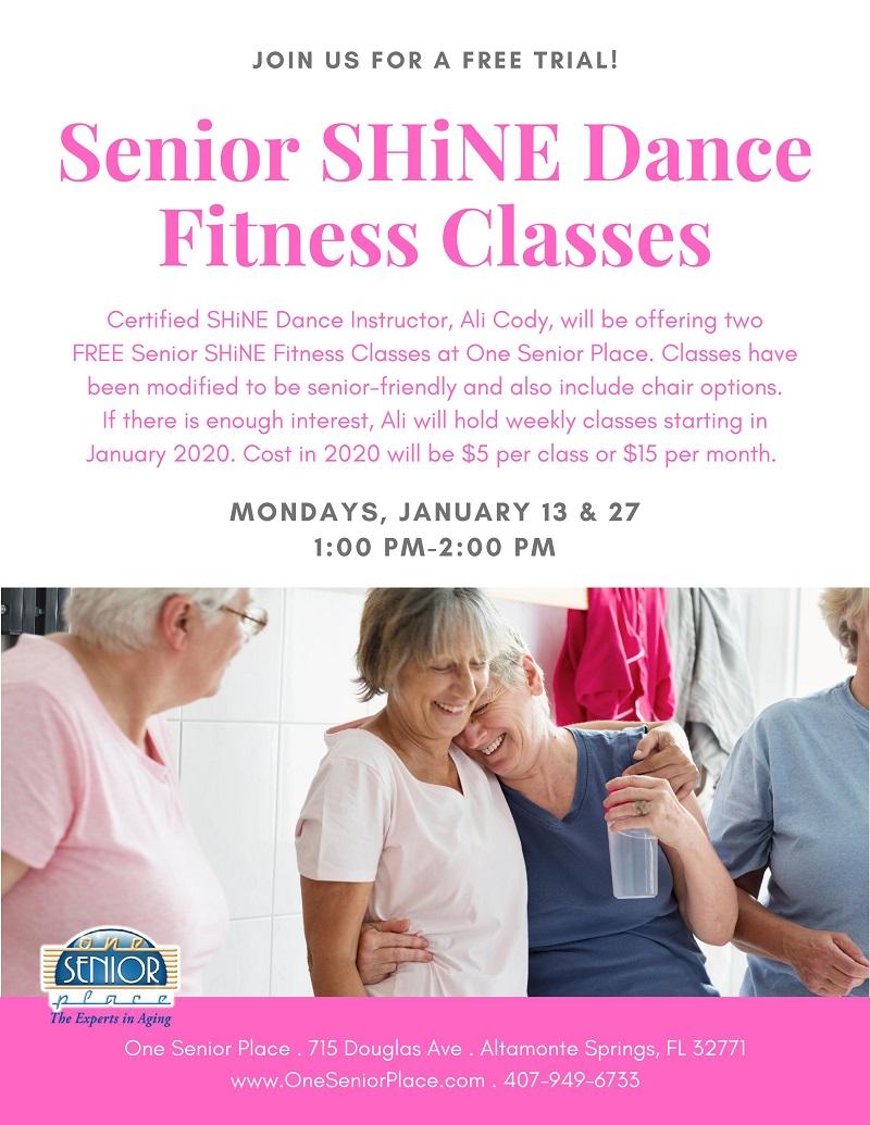 Senior SHiNE Dance Fitness Class