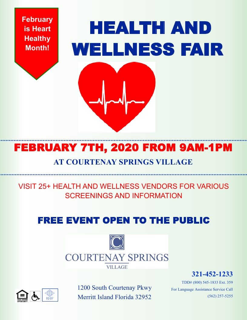 Health and Wellness Fair at Courtenay Springs Village